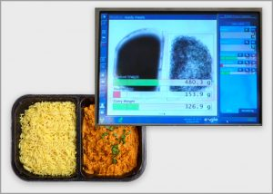 X-ray inspection of ready meals tv dinner